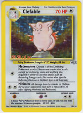 """POKEMON JUNGLE """"CLEFABLE"""" #1/64 HOLO FOIL RARE UNLIMITED NEVER BEEN PLAYED MINT"""