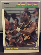 """1987-88 Fleer Karl """"The Mailman"""" Malone Utah Jazz Base Card #68"""