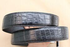 Black Genuine Alligator, CROCODILE Belt Skin Leather Men's - W 1.5'' #16