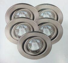 5x Halogen Einbauleuchten 20 W schwenkbar dimmbar Satin m. Transformator 7,7 cm
