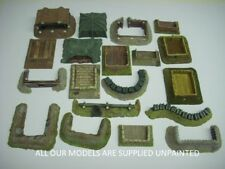 wargame scenery. 15mm earthworks/tent pack. 19 pieces ideal for FOW. (5100)