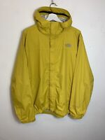 Men's The North Face HyVent Hooded Raincoat Jacket Yellow UK Size L Large