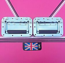 Handles (pair) Spring back recessed  Drop Case Handles speakers flightcase