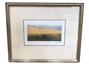 Well Framed Print of Wheat Field - Signed Lichfield and Dated 30th June 1988