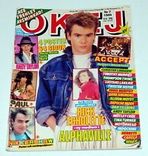 Okej Magazine 1985 Sweden Motley Crue KISS Band Gene Simmons Ace Frehley Wham