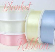 BLANKET RIBBON/binding satin prefolded 75mm wide (37mm wide folded) per 2 metres
