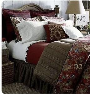 Ralph Lauren Chaps Summerton Houndstooth Reversible Comforter Queen Exc