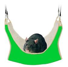 Ratten Hängematte 30x30cm Farbe GRÜN, Degu, Chinchilla, Hamster (T62692)