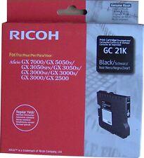 RICOH 405532 GC-21K CARTUCCIA INKJET NERO ORIGINALE GX 2500 3000 3050N 5050 7000