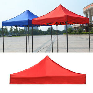 2X2m 3x3m 1-Tier Garden Gazebo Top Cover Roof Replacement Fabric Tent Canopy UK
