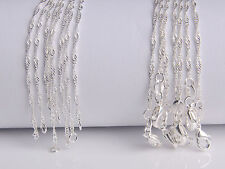 "10Pcs 20"" Wholesale Jewelry Lot 60% Silver ""Water Wave"" Chain Necklace Pendant"