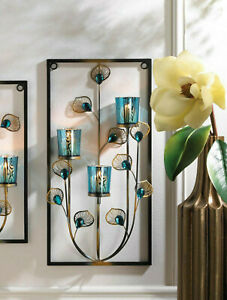 Blue Flower Candle Sconces For Sale In Stock Ebay