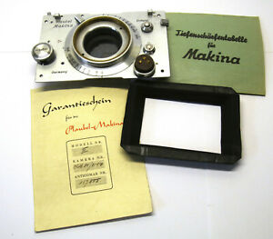Plaubel Makina – Frontplatte Makina III + neuer Balgen