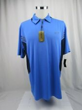 Greg Norman for Tasso Elba Blue Men's Size Large Golf Polo Shirt NEW With Tags