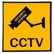 3x Set Aufkleber Warnaufkleber Kamera/Video Ueberwachung Warnschild 100x100mm GY
