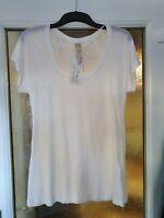 Zara Basic White Short Sleeved T Shirt, Size M (10/12) NWT