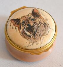 Halcyon Days Made for Bilston and Battersea English Enamels Yorkie Trinket Box
