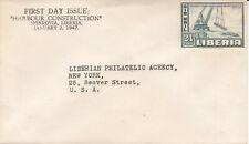 Liberia # C52 1947 Unused FDC Harbor Construction Project