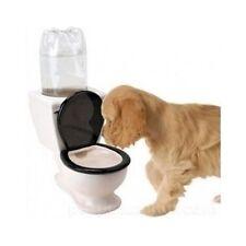Toilet Shape Water Bowl Design Ceramic Dog Dish Novelty Dispenser Puppy Pet Cat