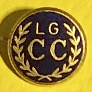 Vintage,Lahore Gymkhana Cricket Club,1926,Lapel Pin,Made In England,Rare,Lacquer