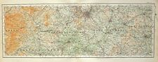 1922 LARGE MAP ~ WORCESTERSHIRE WARWICKSHIRE HEREFORDSHIRE BIRMINGHAM