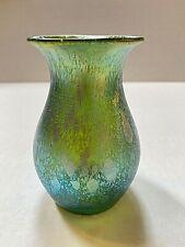 Loetz Iridescent Green Vase - Phanomen Gre 1/473 Variant Decor