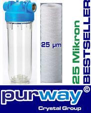 """DP1 PFA 25 µm 5000L/h 3/4"""" Filtergehäuse mit Wasserfilter Trinkwasser Vorfilter"""