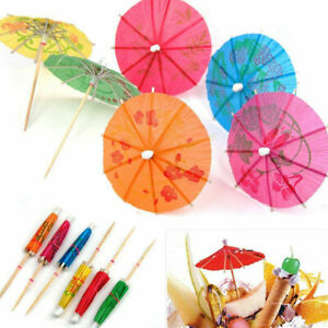 36 Mixed Paper Cocktail Umbrellas Parasols for Party Tropical Drinks Accessories