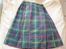 JUPE PLISSEE ECOSSAISE/ KILT  12 ANS  34-36  MADE IN FRANCE TBE VINTAGE