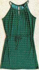 BANANA REPUBLIC KELLY GREEN STRETCH JERSEY BELTED SHIFT DRESS NWOT! $89 PS