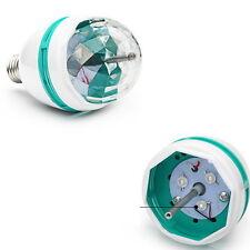 LED Auto Rotating Strobe Light RGB Bulb Crystal Stage Lamp Ball Revolving Lights