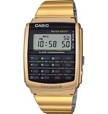 Casio CA-506G-9A New Original Data Bank Calculator Mens Watch Gold CA-506 CA506