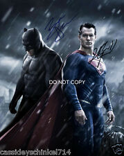 Batman v Superman cast reprint signed 8x10 photo by Ben Affleck Henry Cavill