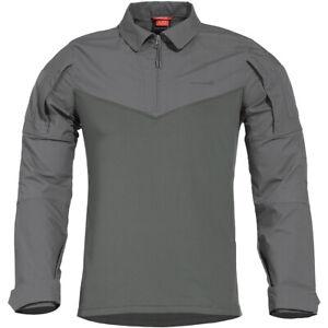 Pentagon Ranger Tac-Fresh Shirt Mens Long Sleeve Airsoft Police Ranger Wolf Grey