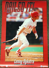 Lenny Dykstra NAILED IT! Philadelphia Phillies 1993 Costacos Brothers POSTER