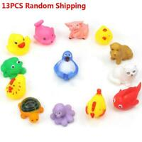 13PCS Baby Bath Toys Squeaky Rubber Animal Floating Water Children Kids Toy AE