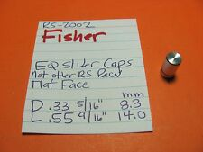 FISHER EQUALIZER SLIDER CAPS RS-2002 RS-2003 STEREO RECEIVER CAP HAS FLAT TOP