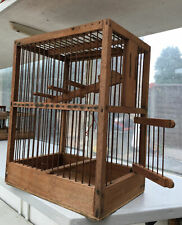Wooden Humane Trap For Canaries Or Small Birds