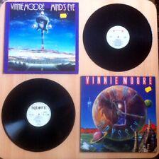 Vinnie Moore Mind's Eye & Time Odyssey LP 1st press MINT rare Promotional Copy
