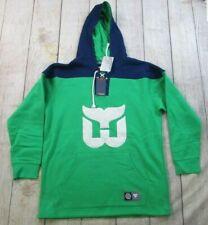 NEW Fanatics Hartford Whalers Green Blue Jersey Sweatshirt Hoodie Men's Medium