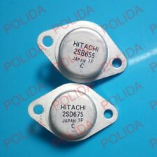 1pairs  Transistor HITACHI TO-3 2SB655/2SD675 B655/D675 100% Genuine Original