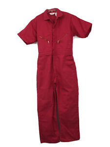 """Walls Master Made Red Coveralls Men size 42 Regular actual 44"""" chest inseam 28"""""""