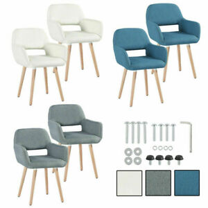 Set of 4/2 Dining Chairs Padded Seat High Back Lounge Office Restaurant Armchair