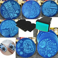 10X Nail Art Manicure Stencil Stamper Beauty Stamping Template Plate Set Tools*