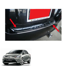 For Toyota Vios Belta Yaris Sedan 13 14 15 17 Rear Sill Bumper Step Cover Chrome