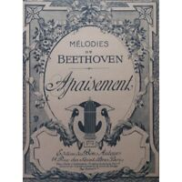 BEETHOVEN Apaciguamiento Chant Piano partitura sheet music score