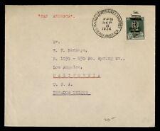 DR WHO 1934 ARGENTINA PAQUEBOT PAN AMERICA SHIP TO USA  g10067