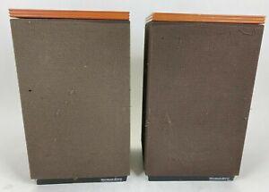 Vintage Mordaunt Short Carnival 3 Floor/Bookshelf Speaker Pair Tested