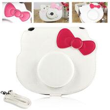 For Fujifilm Instax Mini HELLO KITTY Camera PU Leather Bag Case Cover Cute White