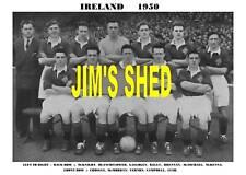 IRELAND FOOTBALL TEAM PRINT 1950 (BLANCHFLOWER/CUSH)